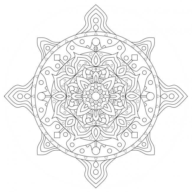Klassisches Mandala mit Blüte