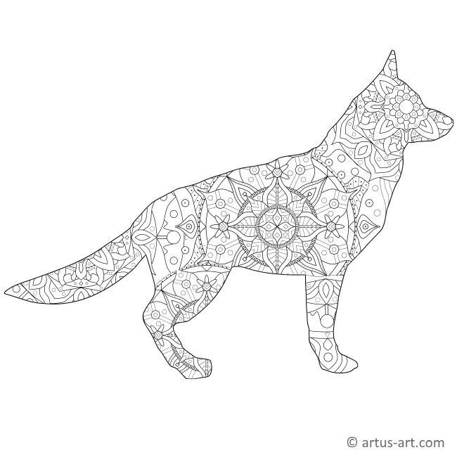 mandala in hundeform » gratis ausdrucken  ausmalen