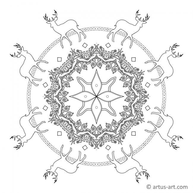 Waldblumen Mandala