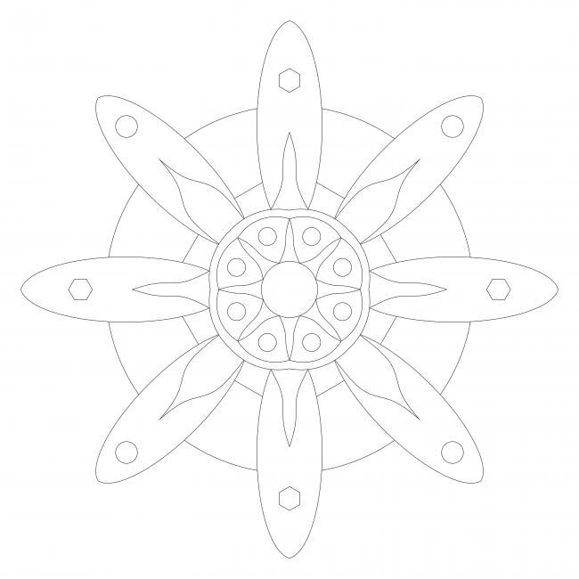 Einfaches Blumenmandala