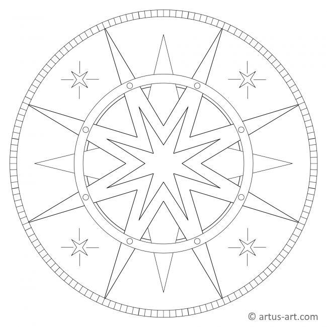 Stern mit Ring Mandala