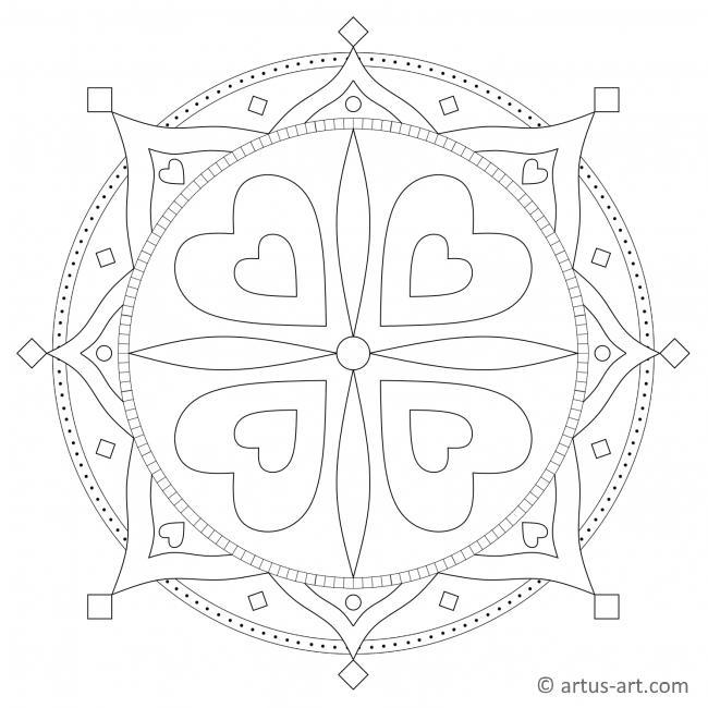 Herzchen Mandala