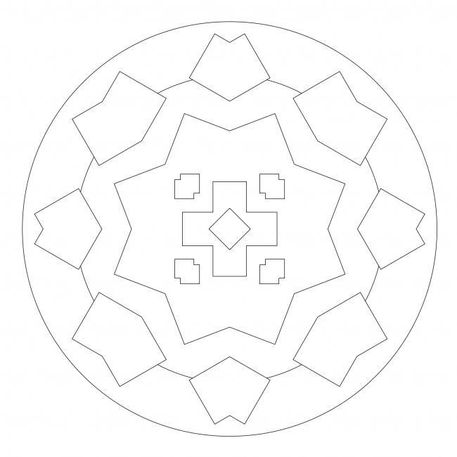 Eckiges Mandala