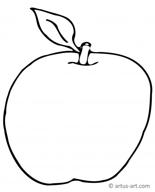 Apfel Ausmalbild » Gratis Ausdrucken & Ausmalen » Artus Art