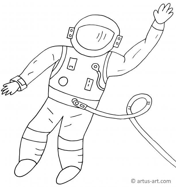 Astronaut Ausmalbild Gratis Ausdrucken Ausmalen Artus Art