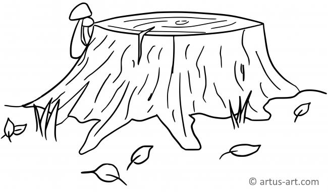 Stump Coloring Page
