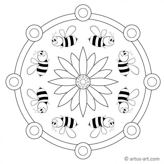Biene Mandala