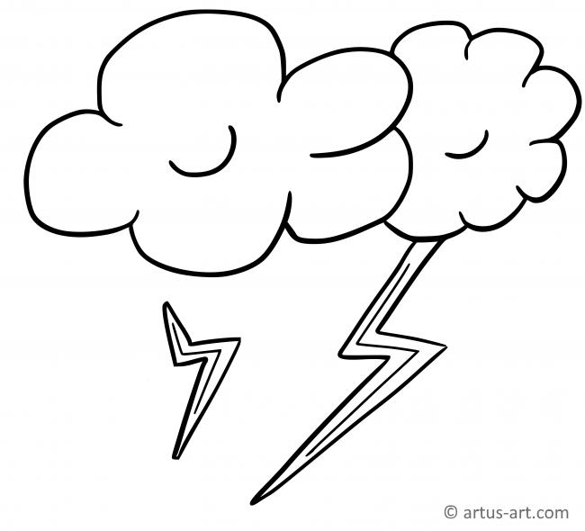 Thunderbolt Coloring Page