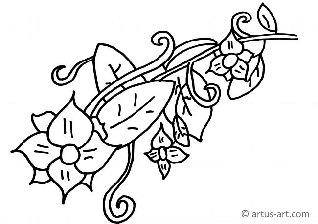 Tendril Coloring Page