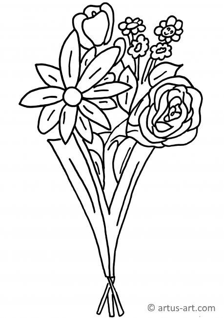 Blumenstrauß Ausmalbild