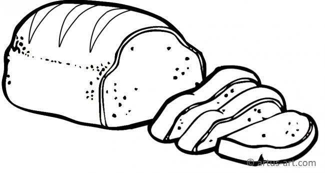 Bread Coloring Page