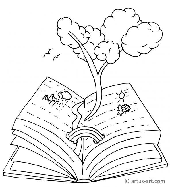 Buch Ausmalbild
