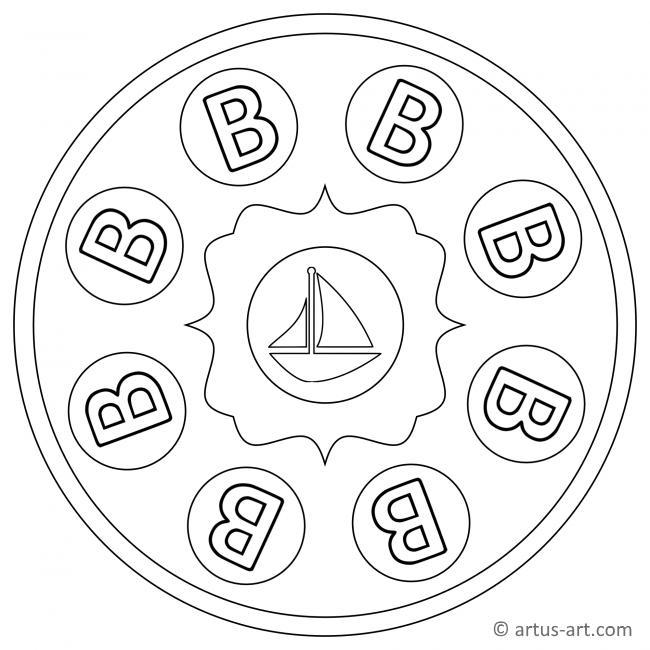 Buchstabe B Mandala
