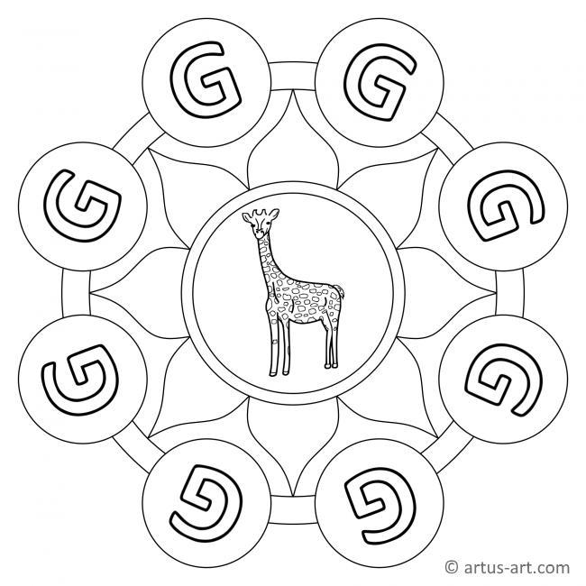 Letter G Mandala