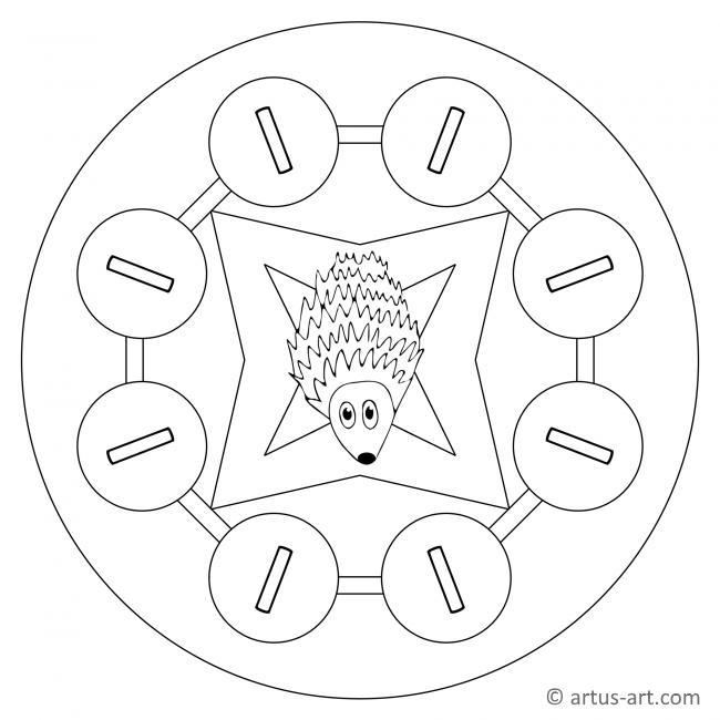 Buchstabe I Mandala