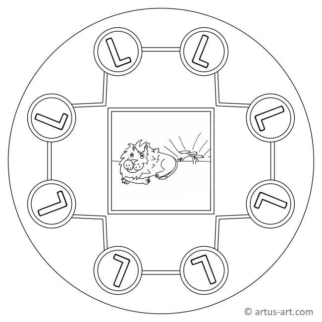 buchstabe l mandala » gratis ausdrucken  ausmalen » artus art