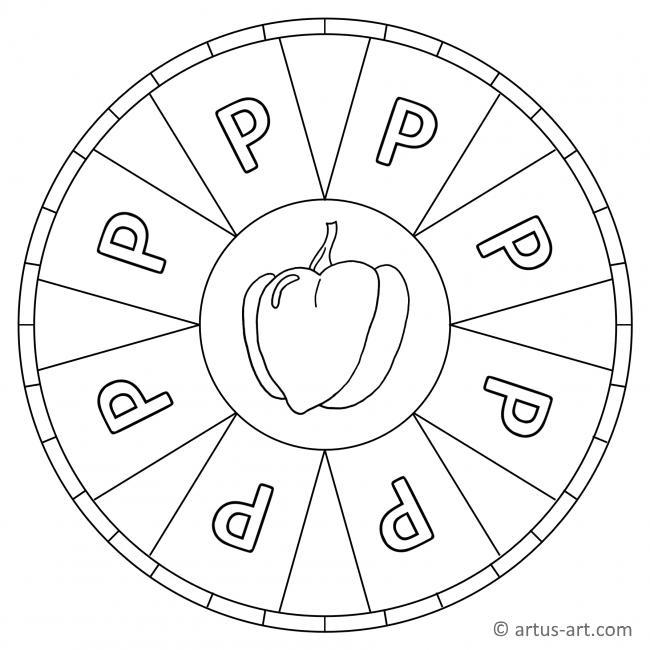 Buchstabe P Mandala