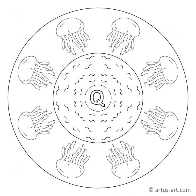 Buchstabe Q Mandala