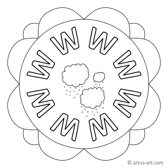 Buchstabe W Mandala