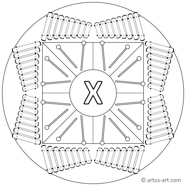 Buchstabe X Mandala