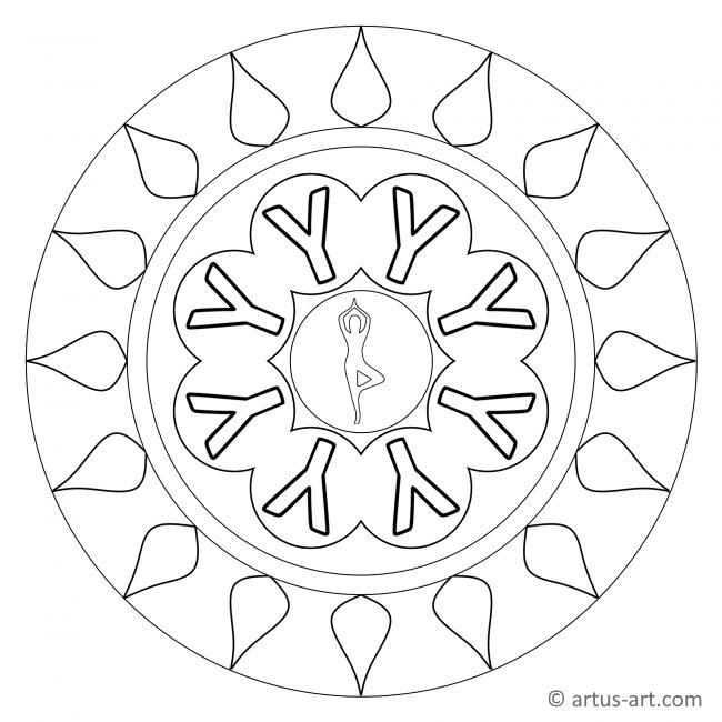 Buchstabe Y Mandala