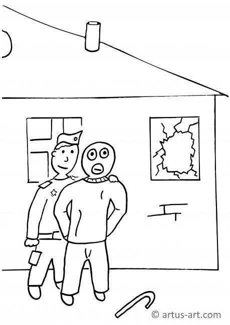 Burglar Coloring Page