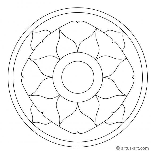 Einfaches Mandala mit Blüte