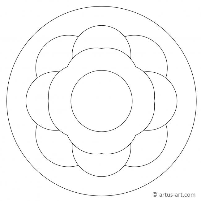 Simple Large Spaced Mandala