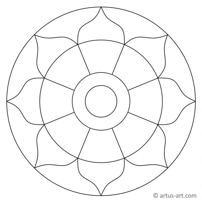 Schlichtes Mandala