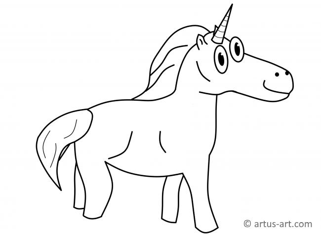 Unicorn Coloring Page