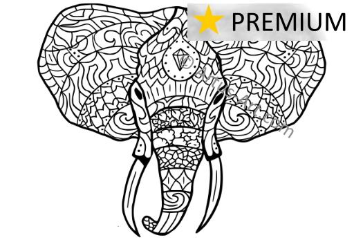 malvorlagen elefant gratis  x13 ein bild zeichnen