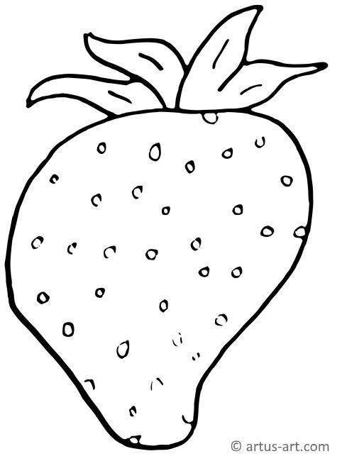Erdbeere Ausmalbild
