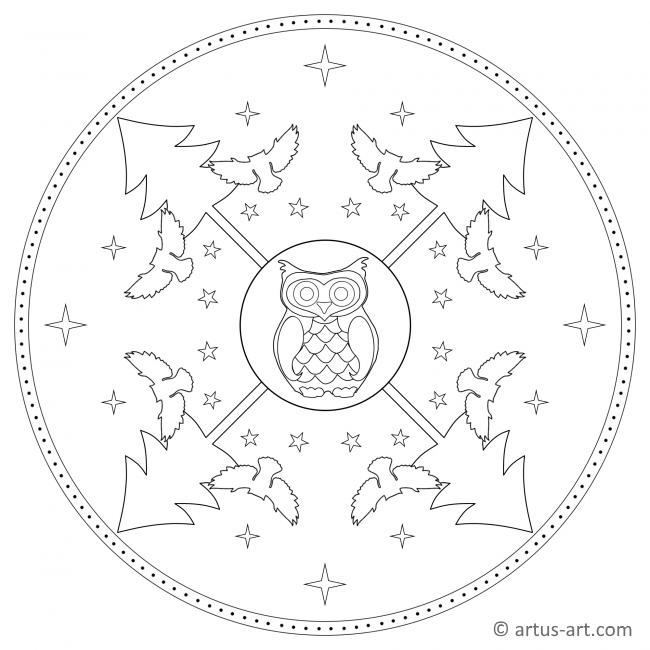 Eule Mandala