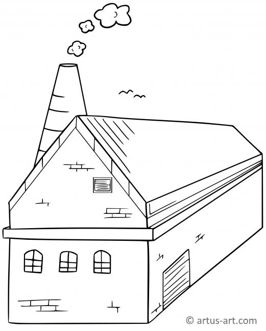 Factory Coloring Page