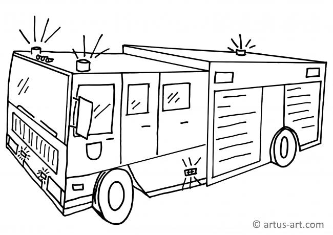Vintage Pick Up Truck Coloring Page in 2020 | Truck coloring pages ... | 459x650