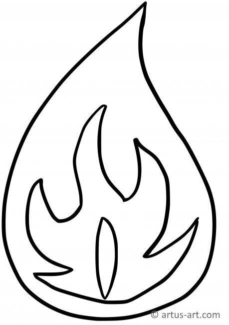 Flamme Ausmalbild