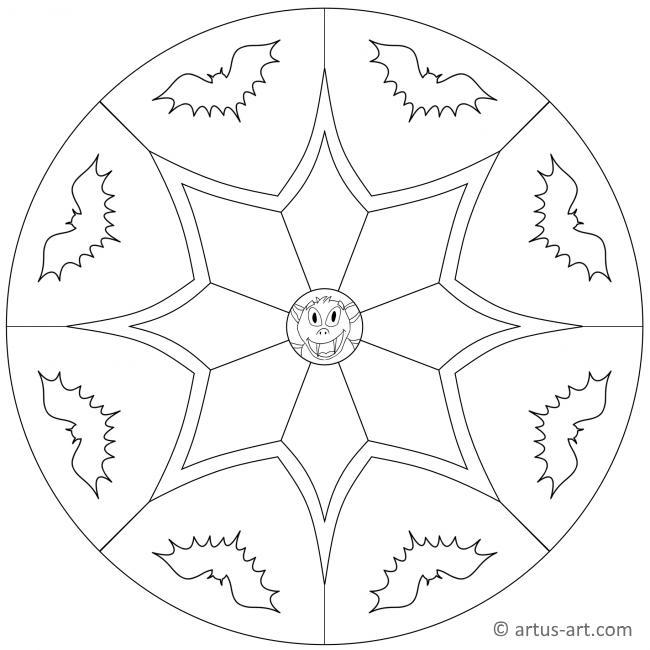 Fledermaus Mandala