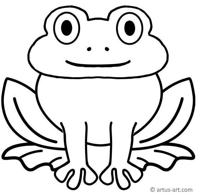 frosch ausmalbild » gratis ausdrucken  ausmalen » artus art