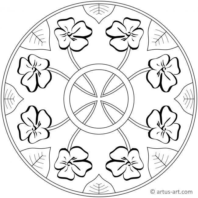 frühling blüte mandala » gratis ausdrucken  ausmalen