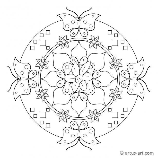 Frühling Schmetterling Mandala
