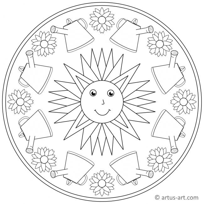 frühling sonne mandala » gratis ausdrucken  ausmalen