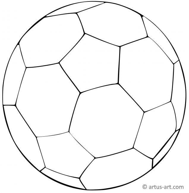 Ball Ausmalbild Gratis Ausdrucken Ausmalen Artus Art