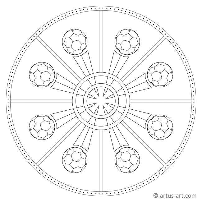 Ball Mandala Gratis Ausdrucken Ausmalen Artus Art