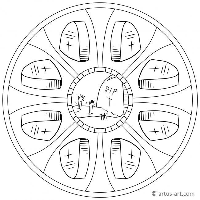 Grab Mandala Gratis Ausdrucken Ausmalen Artus Art
