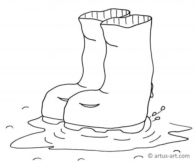 Rubber Boot Coloring Page