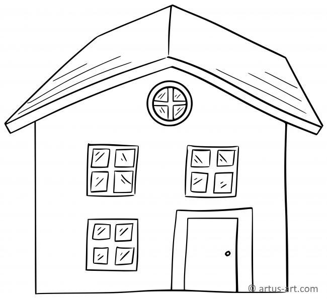 Haus Ausmalbild Gratis Ausdrucken Ausmalen Artus Art