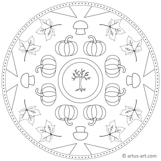 Fall Pumpkin Mandala