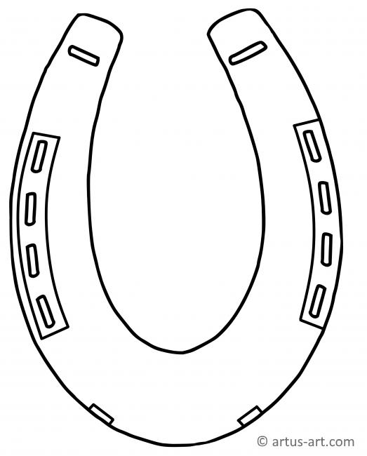 Horseshoe Coloring Page