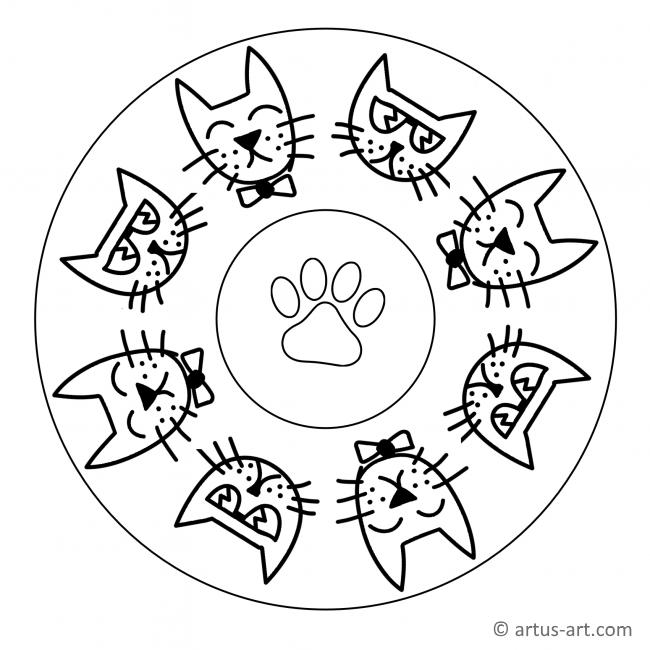 Cool Kitten Mandala