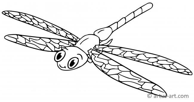 Libelle Ausmalbild